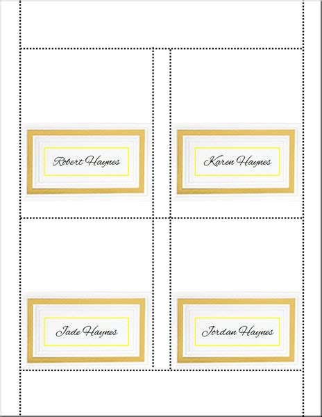 do it yourself place cards templates do it yourself wedding placecards