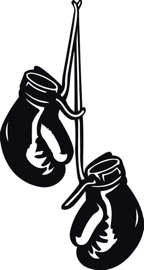 Home Gym Wall Decor boxing gloves hanging decal wall sticker home decor art