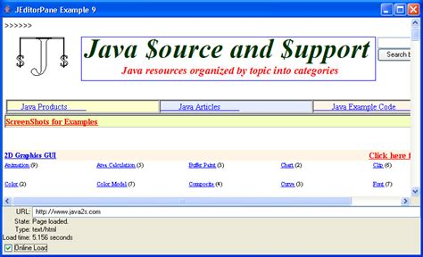 text editor in java swing source code jeditorpane exle 15 text editorpane 171 swing jfc 171 java