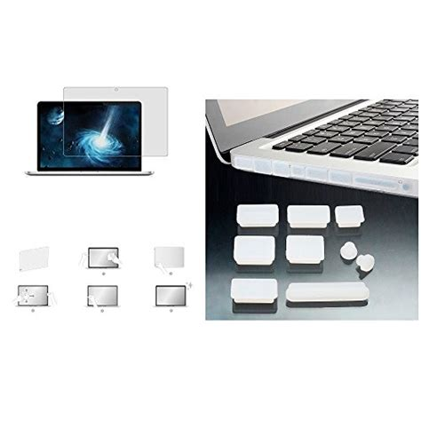 Promo Gold Macbook 15 Gold Keyboard Free Dustplug applefuns tm 4in1 kit shell keyboard cover screen protector dust for