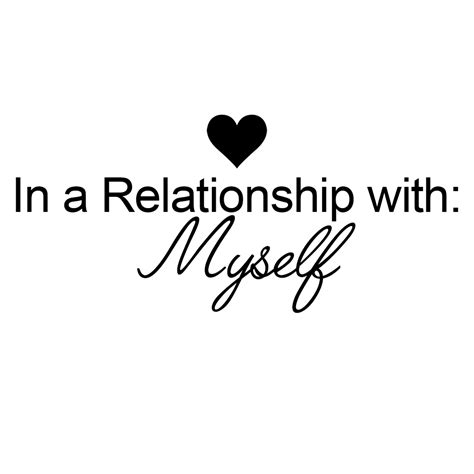 In A Relationship in a relationship with myself vinyl sticker car decal