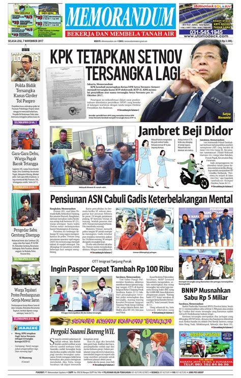 memorandum edisi 7 november 2017 by memorandum issuu