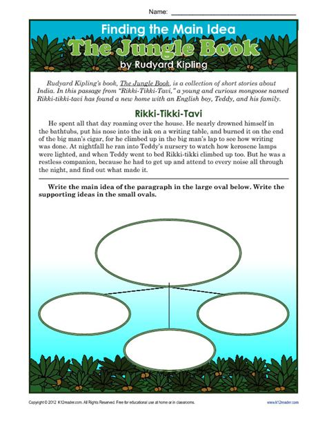 Worksheets Idea by 3rd Or 4th Grade Idea Worksheet About The Jungle Book