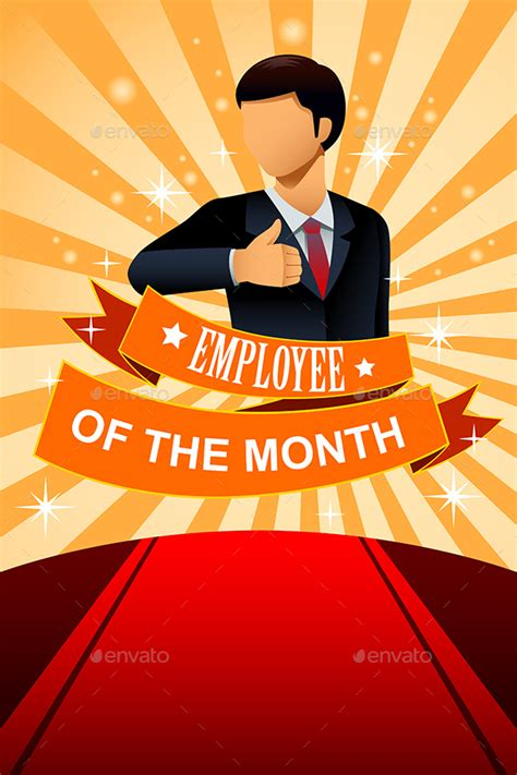 employee of the month poster frame by artisticco