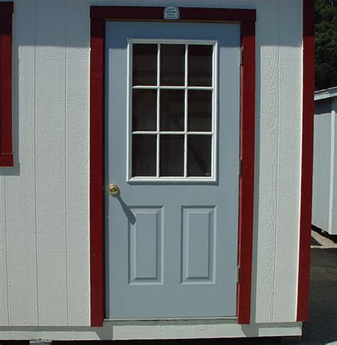 9 Lite Door by California Custom Sheds Shed Options