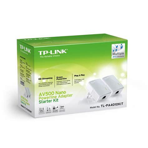 Tplink Tl Pa4010pkit Power Line Adapter Av500 tp link tl pa4010p kit av500 powerline adapter tl pa4010pkit shopping express
