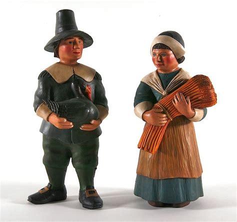 folk art pilgrim man  woman  artist leo smith