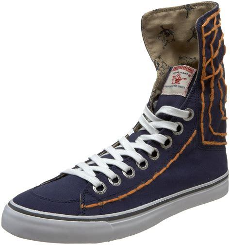 true religion mens hanabel t canvas hi top sneaker in blue