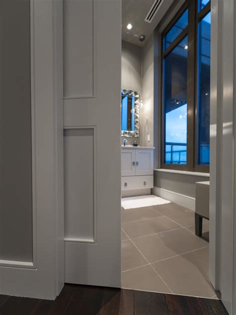 bathroom pocket doors guest bathroom pictures from hgtv oasis 2014 hgtv