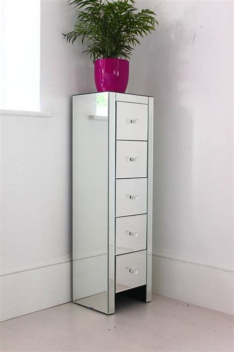 mirrored bathroom tallboy ultra thin mirrored tallboy chest by out there interiors