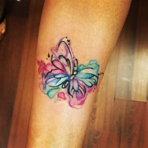 watercolor tattoo new england my new watercolor butterfly and simple
