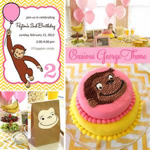 curious george birthday party pigskins amp pigtails