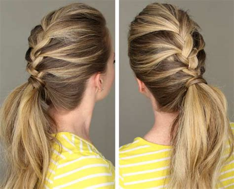 braiding into pomytail french braid hairstyles you would love to try lushzone