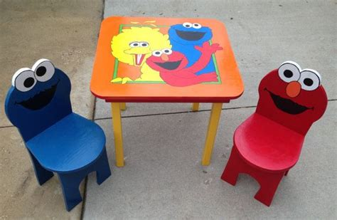 elmo table and chairs pin by elmo chair on elmo chairs for