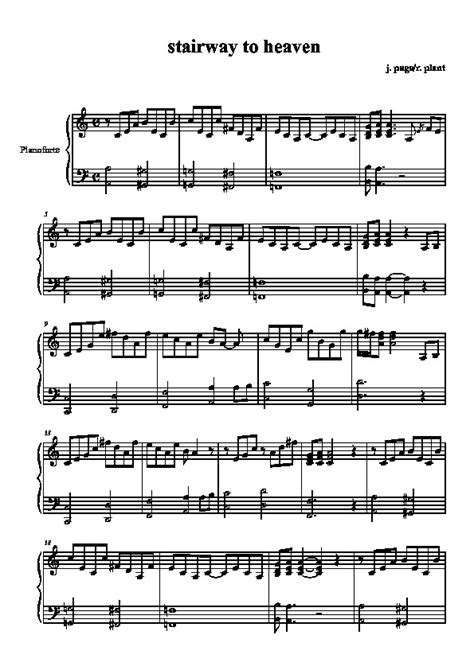 tutorial piano stairway to heaven stairway to heaven free piano sheet led zeppelin
