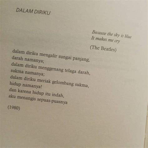 Sapardi Djoko Damono Ada Berita Apa Hari Ini Den Sastro kumpulan sajak romantis penyair legendaris sapardi djoko