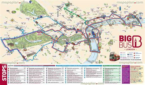 Open Top Bus Tour London Map