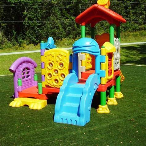 swing set preschool kidwise playland kidcenter 4 playground structure
