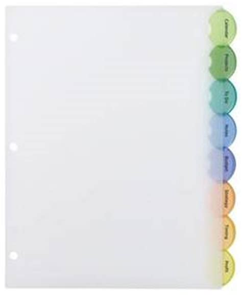 avery template 11201 avery style edge insertable plastic dividers multicolor 8