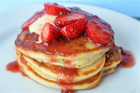en food strawberry pancakes en kung food