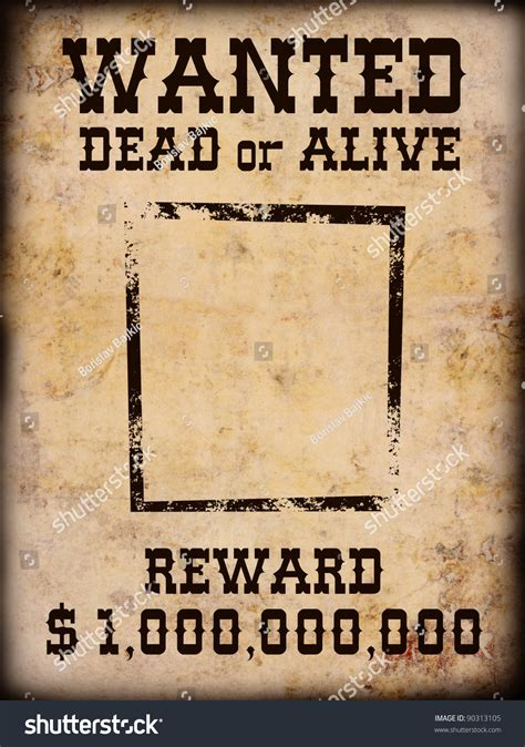 Warchild Wanted Dead Or Alive poster wanted dead alive stock photo 90313105