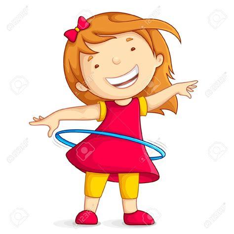 dibujos de niños jugando ula ula 14504567 ilustraci n vectorial de la ni a jugando con el