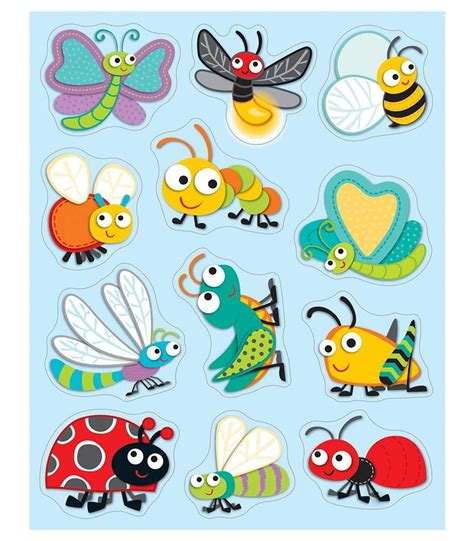 printable bug stickers quot buggy quot for bugs shape stickers carson dellosa