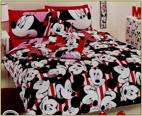 Minnie And Mickey Mouse Queen Bedding Suntzu King Bed Minnie And Mickey Mouse Bed Set