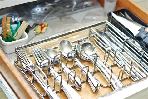 stylish drawer design with coolest silverware organizer