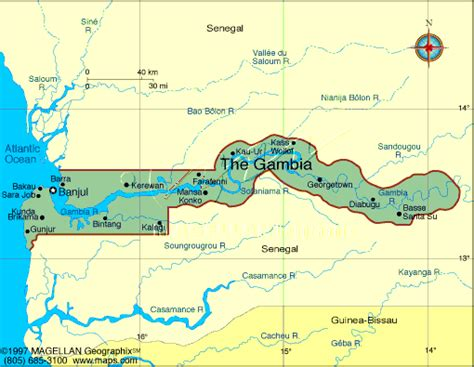 africa map gambia gambia map west africa