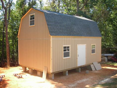 Two Story Shed Plans by Bari Plans For A 16x24 Storage Shed