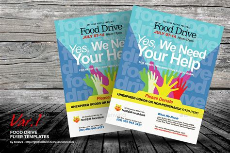 Food Drive Flyer Template By Kinzishots Graphicriver Drive Templates