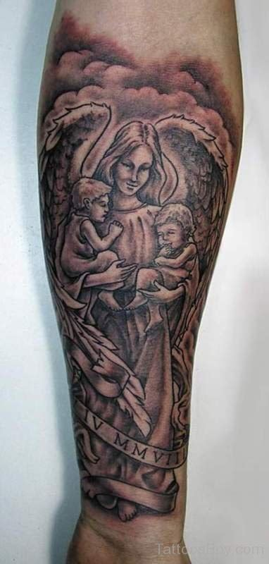 guardian angel wrist tattoos guardian tattoos designs pictures