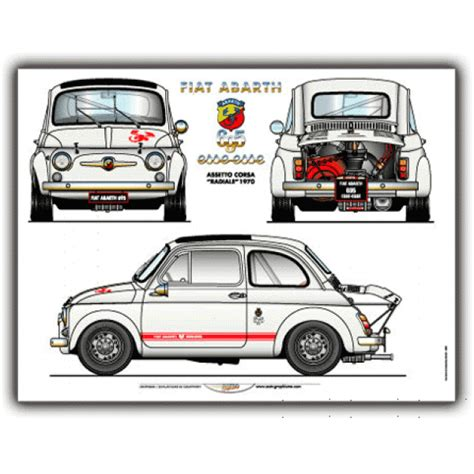 Plakat Club Motor by 500 Abarth Poster