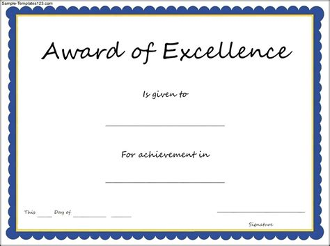 sle award certificate template 28 excellence award template award word template masir