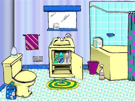 bathroom cartoon pictures cartoon bathroom clipart 8
