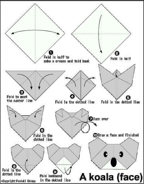 How To Make A Origami Koala - 25 best ideas about origami koala on origami