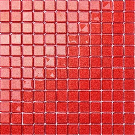 Rote Fliesen Kaufen by Rote Fliesen Mit Glitzer Gl Nzende Rote Weihnachtskugeln