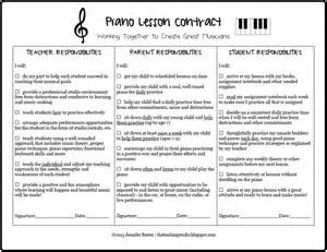 free printable piano lesson contract