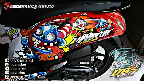 Striping Decal Scoopy Fi cutting sticker 3d scoopy fi vector by iraoneluu on deviantart