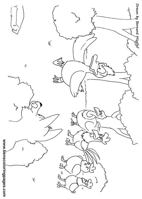 Chicken Licken Coloring Page | chicken licken coloring pages