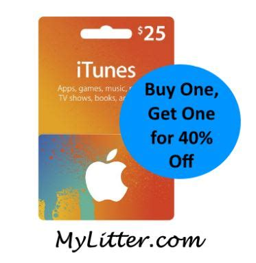 Can I Purchase A Gift Card With Another Gift Card - 15 to 100 itunes cards bogo40 free shipping mylitter one deal at a time