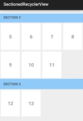 recyclerview layout height wrap content a sectionedgridrecyclerviewadapter use this class to