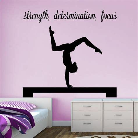 Gymnastics Wall Stickers gymnast handstand on beam quot strength determination focus