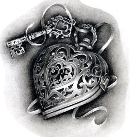 heart shaped lock tattoo designs 20 shaped locket tattoos tattoos