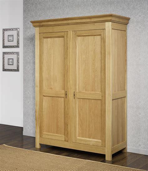 armoire chene massif 2 portes armoire 2 portes en ch 234 ne massif de style cagnard