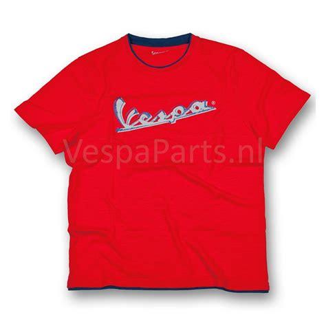 T Shirt Vespa vespa t shirt original heren rood ves parts vespa