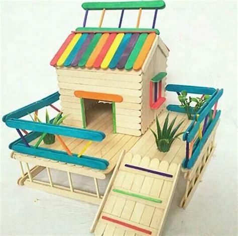 casa con palitos de madera manualidades para ni os 25 ideas destacadas sobre casa de p 225 jaros de palitos de
