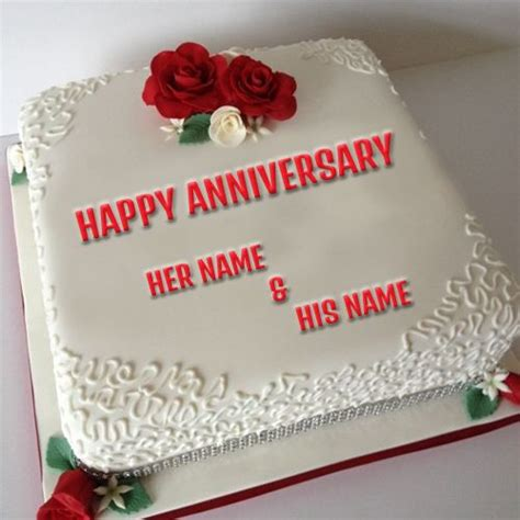 Happy Birthday Cards Write Name The 25 Best Happy Marriage Anniversary Cake Ideas On