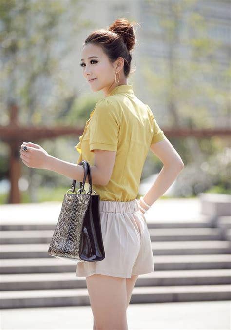A54 25 Kemeja Atasan Wanita Lengan Pendek Sifon Putih Polos kemeja kerja wanita import lengan pendek model terbaru jual murah import kerja